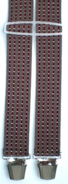 HHT35 - Hosenträger - H-Form - 4 Clips - Streifen