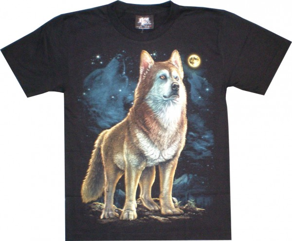 GTS177 - T-Shirt - Wolf - Glow in the dark