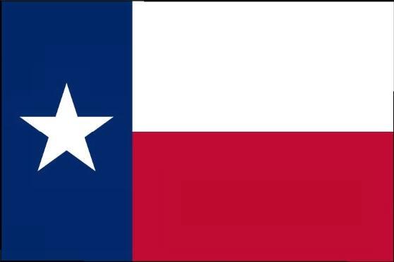 Länderfahne Texas