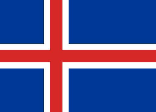 Länderfahne Island
