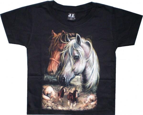 Kinder T-Shirt mit Pferden