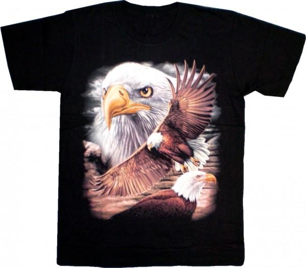 T-Shirt mit Adlern