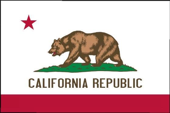 Länderfahne Kalifornien