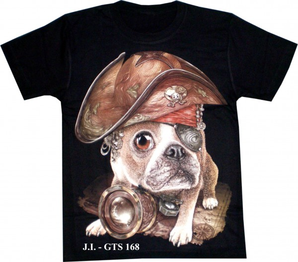 T-Shirt - Dog like Napoleon - Glow in the dark