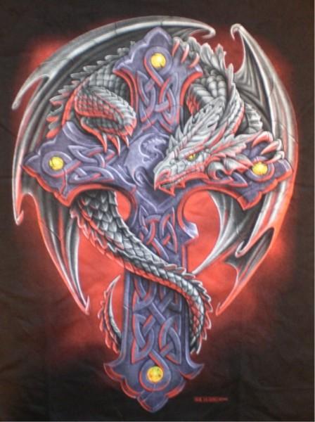 T-Shirt Schwert mit Drachen