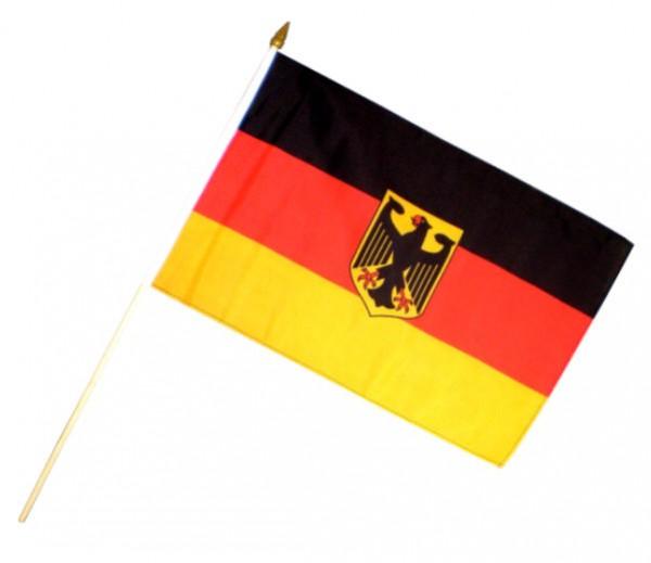 Stockfahne / Stockflagge BRD mit Adler