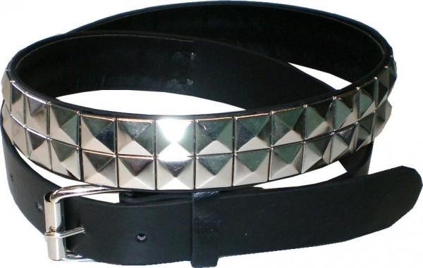 KGL IQ878 - Nietengürtel - Pyramidennieten-Gürtel - Gothik-Gürtel - 2reihig