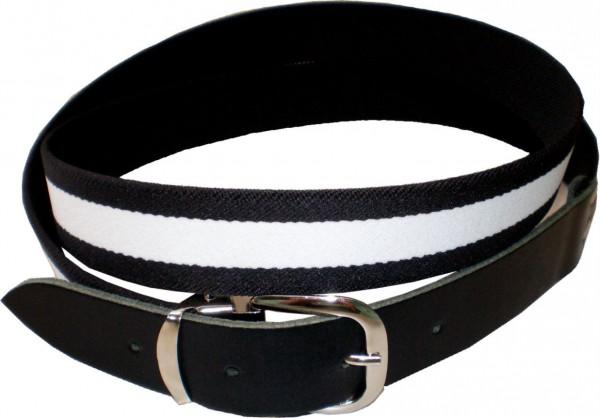 EGL 04 - Elastikgürtel - Stretchgürtel in schwarz/weiß