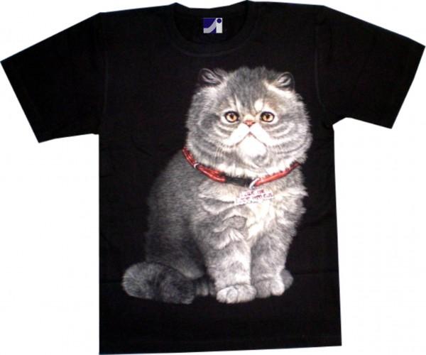 GTS 218 - T-Shirt - Katze - Glow in the dark-Copy