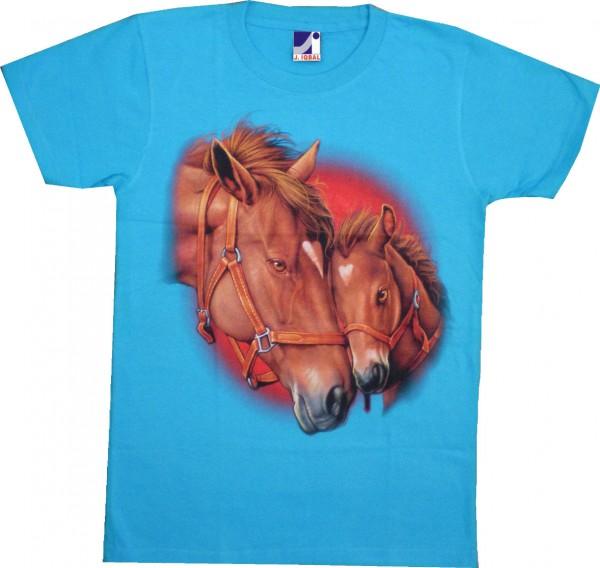 T-Shirt Pferd und Fohlen