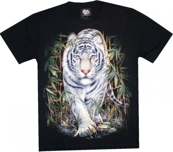 NEU - GTS 101 - T-Shirt – weißer Löwe – Glow in the dark