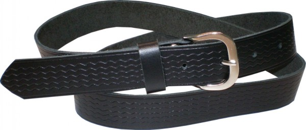 SPL10 - 4 cm breiter Spaltleder-Gürtel / Gürtel / Jeans-Gürtel mit Muster