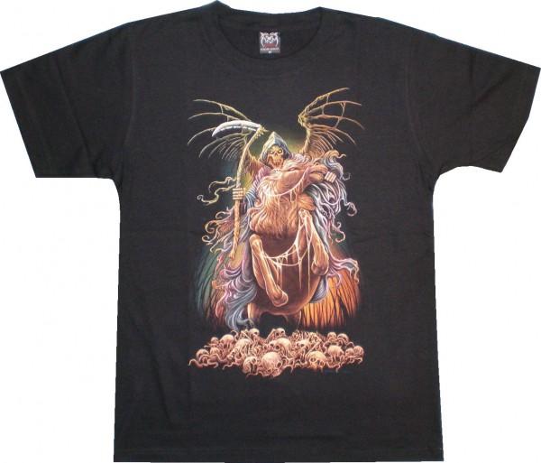 T-Shirt Sensemann auf Pferd