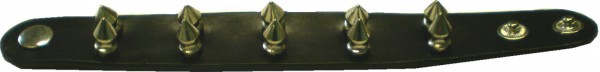 NAB 1803 - Nieten-Armband - Killernieten-Armband mit Druckknopf - 2reihig