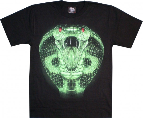 T-Shirt - Schlangenkopf - Glow in the dark