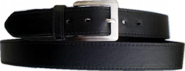 KGL 2137 - Gürtel / Kunstledergürtel / PU-Gürtel gemustert in 3,2 cm, schwarz