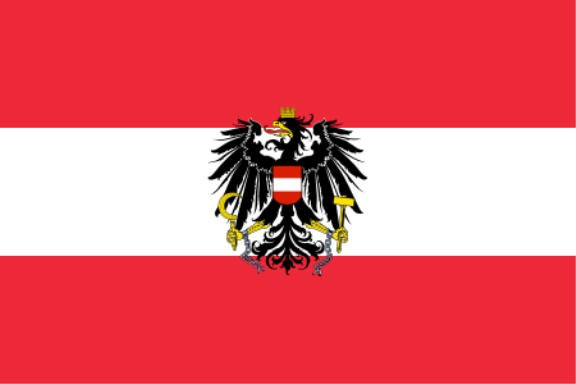 Länderfahne Österreich mit Adler