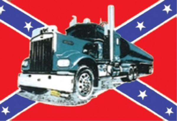 Länderfahne Südstaaten mit Truck