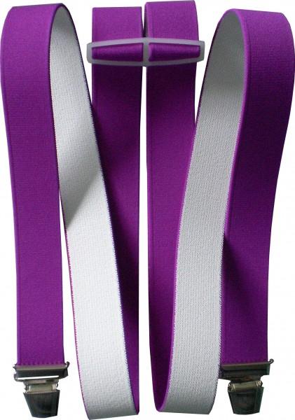 Hosenträger - H-Form - 4 Clips - in vielen uni-Farben