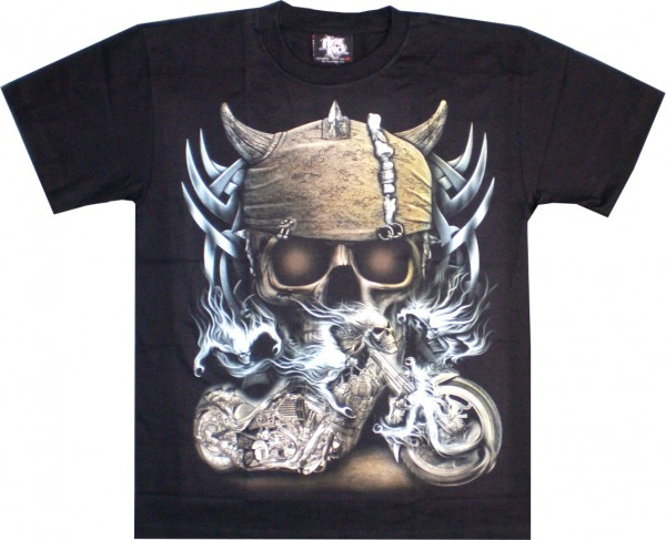 T-Shirt - Skull und Bke - Glow in the dark